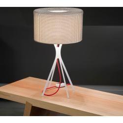 Le Labo Design Easy 600 mit gewebter Tischlampe mit rotem KabelNostraform    #HomeDecor