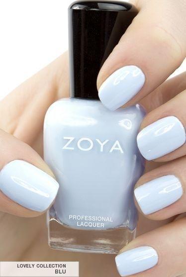Oooh would look good with a nice tan. Cool Blu Zoya Nail Polish