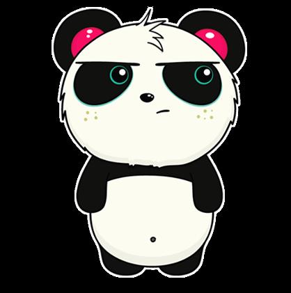 Facebook Messenger Pandi Stickers Free Download Pandi Png Stickers For Android Iphone Pc Panda Funny Panda Sketch Panda Wallpapers