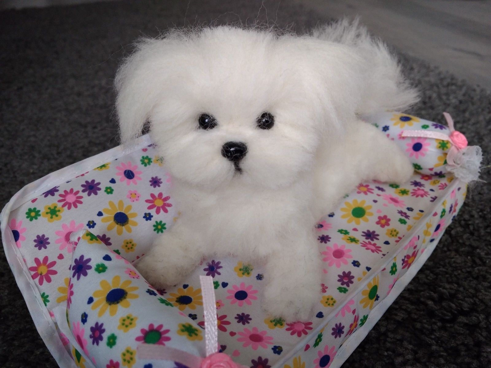 Ooak Needle Felted Maltese Puppy Dog Ebay Maltese Puppy