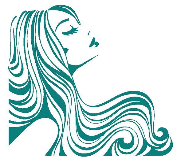Flowing Hair Woman People Custom Vinyl Decal For Home Office Or - Hair stylist custom vinyl decals for car