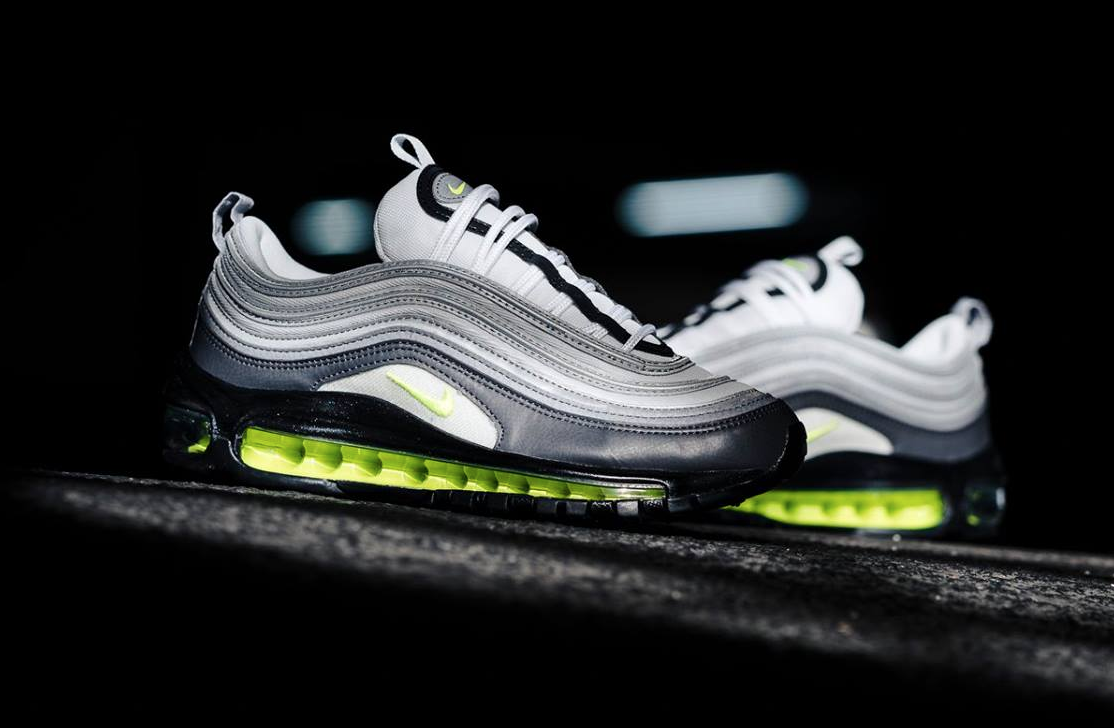 buy popular be71c ea2bb The Nike Air Max 97 Neon is featured in a closer look and its now available