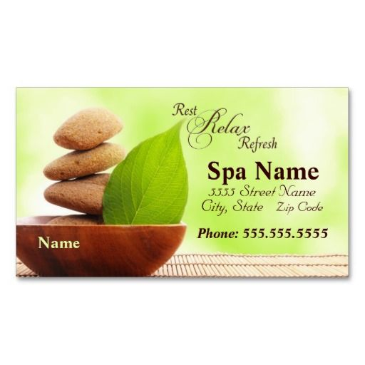 Spa business cards designed by siberianmom of zazzle business spa business cards designed by siberianmom of zazzle reheart Image collections