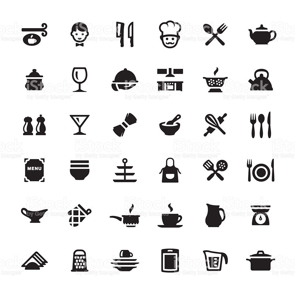 Cooking Amp Kitchen Utensil Related Symbols And Icons