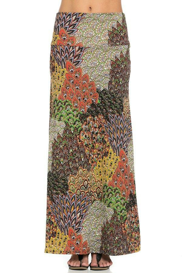 Bohemian Maxi Skirt 22 Sizes SXL Made in the USA