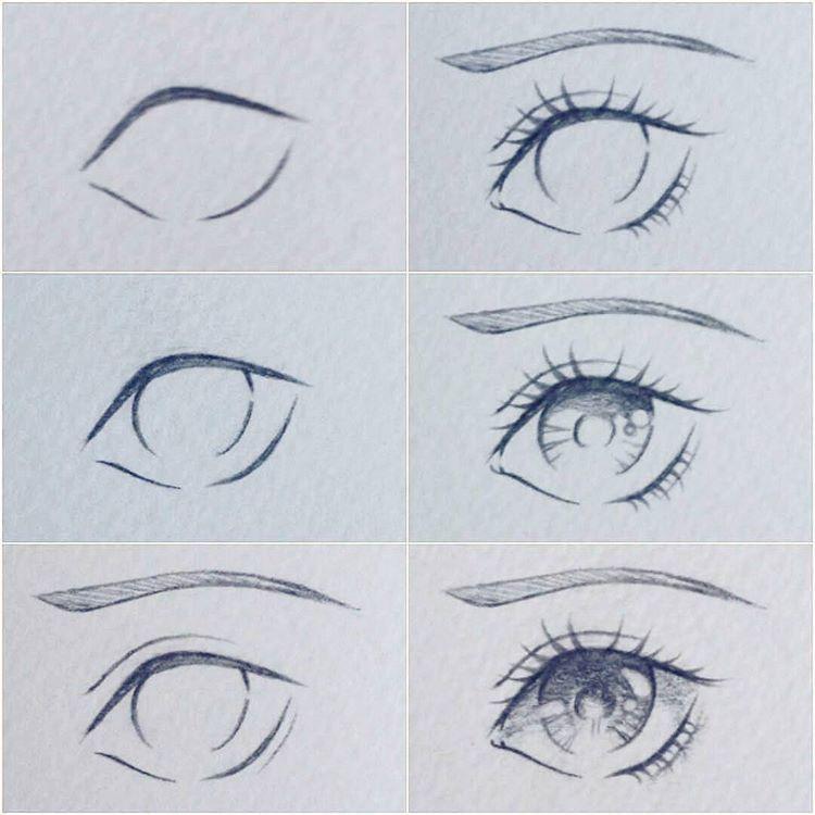 Instagram Da Art Drawings خطوات رسم عين أنمي Eye Drawing Anime Eye Drawing Drawing Tutorial