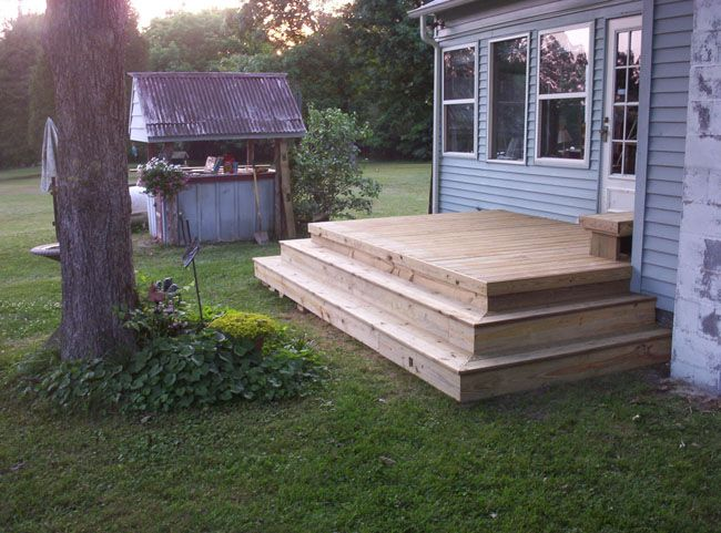 12 X 12 Deck With A 4 Landing And Steps Dream Backyard Deck Backyard