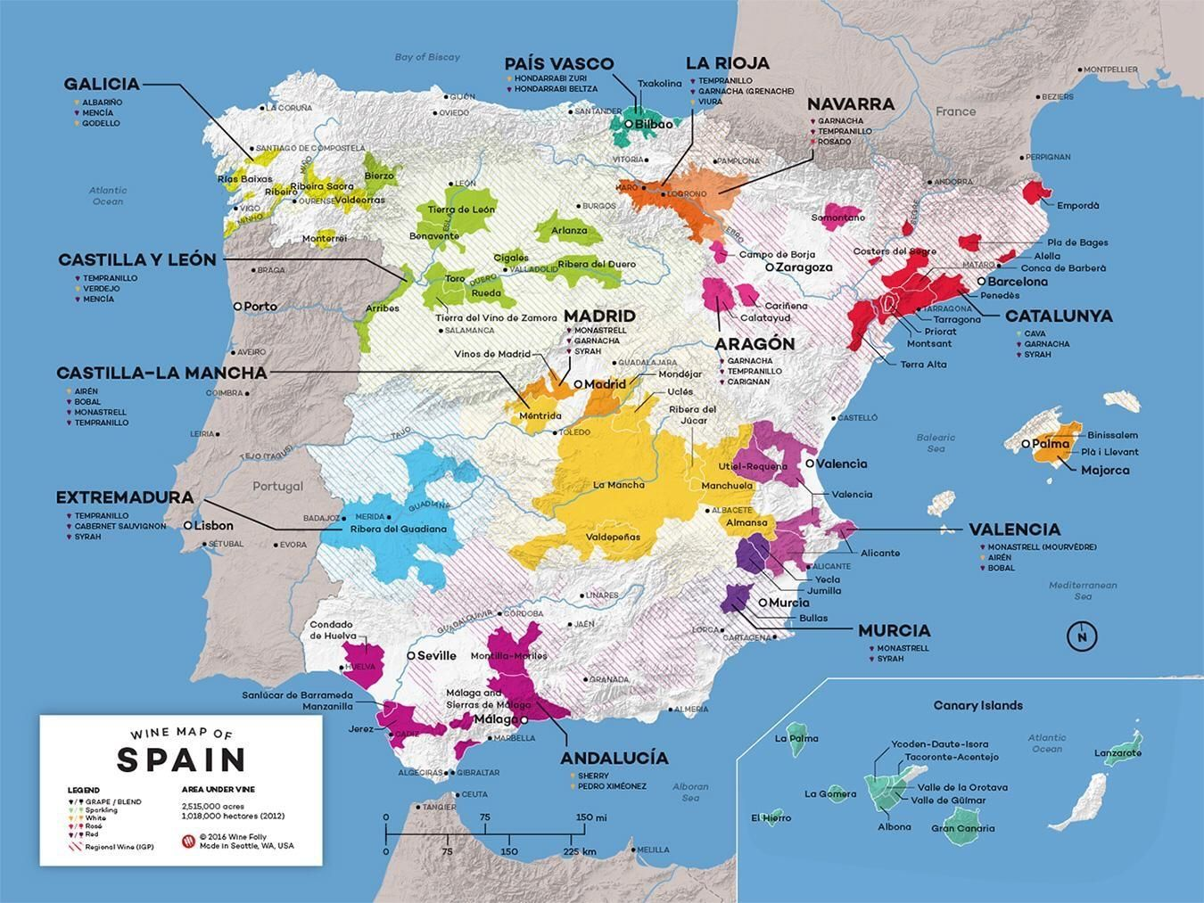 Mapa De Vinos De Espana Spain Vino De Espana Guia De Vinos