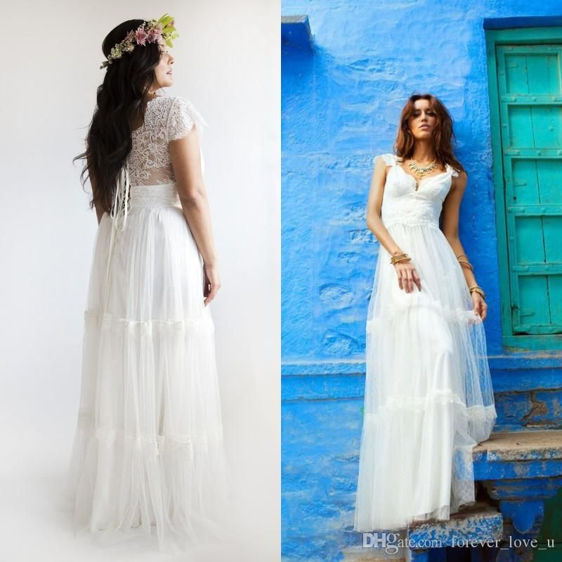 Gowns China Quality Gown Party Dress Directly From Tv Suppliers 2017 Bohemian Wedding Dresses Plus Size A Line Bridal Vintage