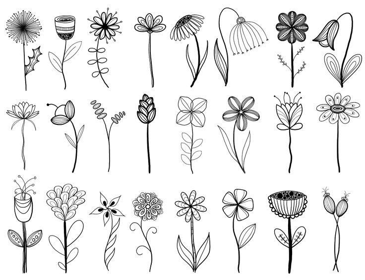 Uchimsya Risovat Art Flowers Easy Grafika Cvety Art Flowers