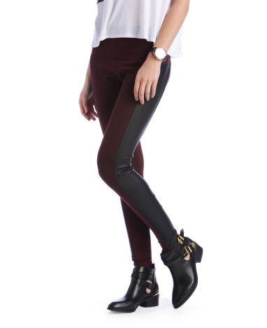 16af0c42016baf Lysse Vegan Leather Side Panel High Rise Ponte Leggings   looks for ...