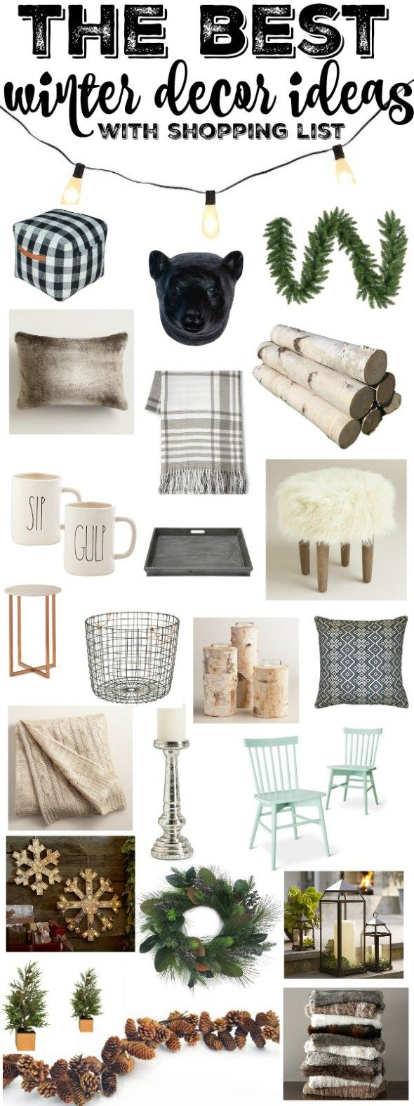 Decorative Objects Living Room: Favorite Rustic Winter Decor