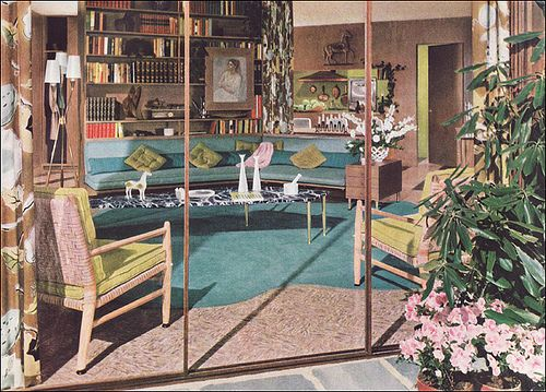 Living Room 1950s 1950s mid century living room, via flickr. | mid century design