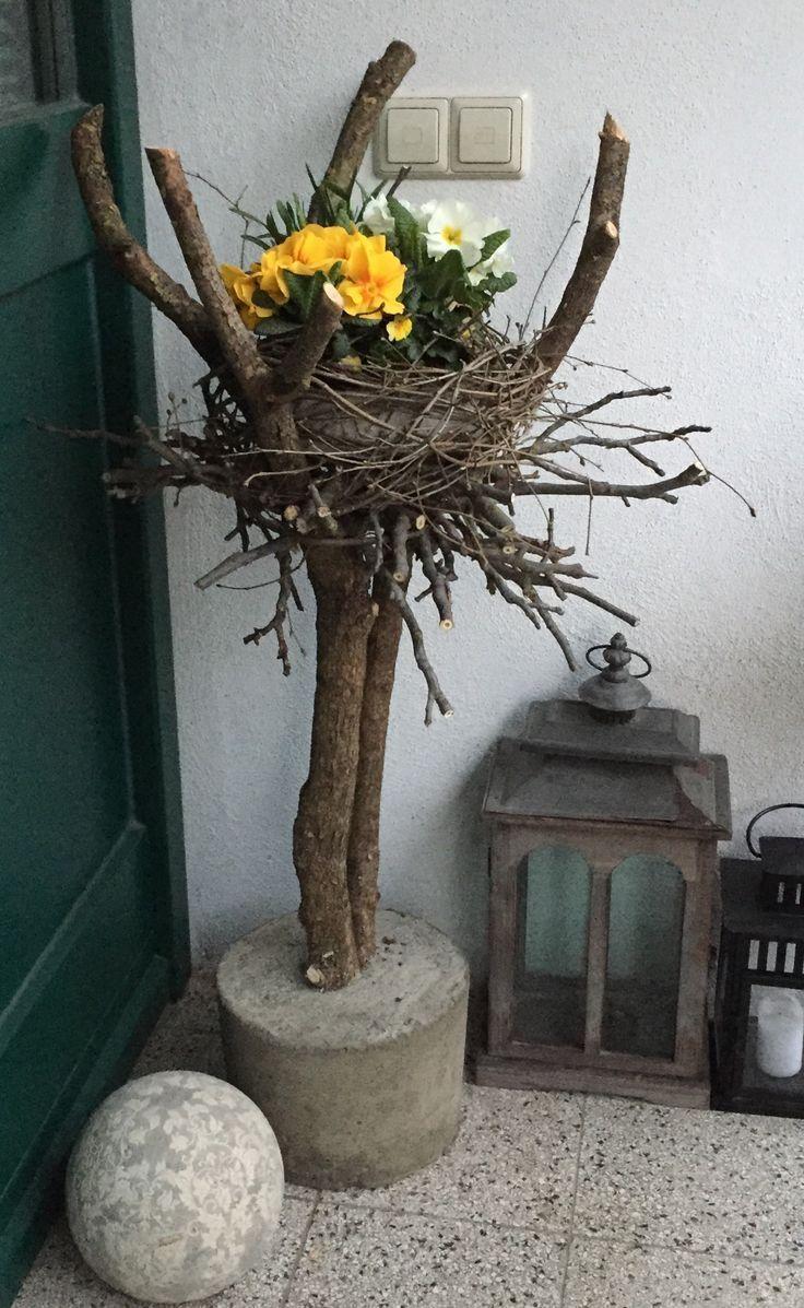 Photo of Spring decoration house entrance MauerPlümchen – New Ideas