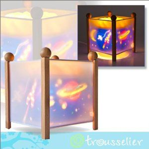 Baby Boy Boys Magical Rotating Nursery Glow Night Light Lamp Lantern By Trousselier In A Natural Frame Outer E Co Uk