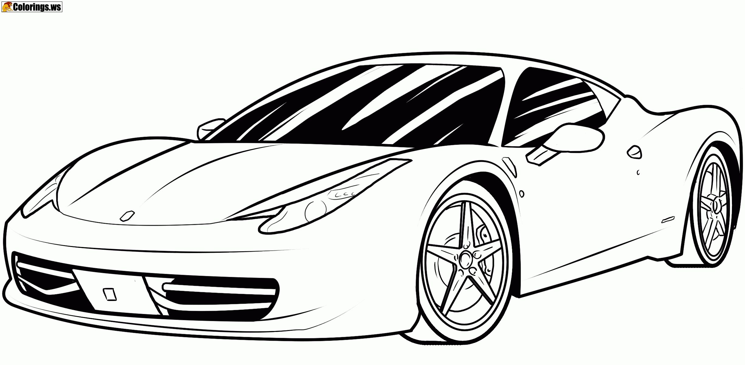 Ferrari Car Coloring Pages Car Coloring Pages In The Past The Electrics Were A Relativel Cars Coloring Pages Race Car Coloring Pages Sports Coloring Pages