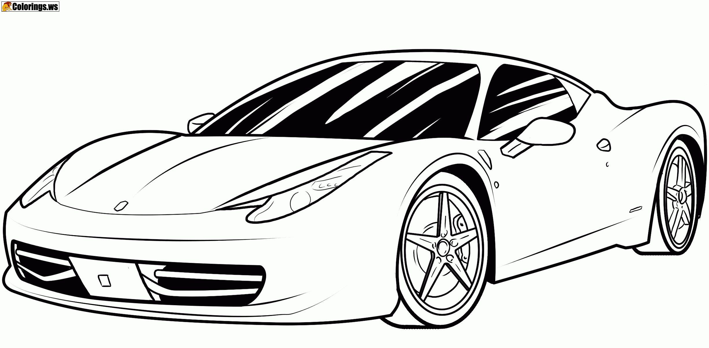 Ferrari Car Coloring Pages