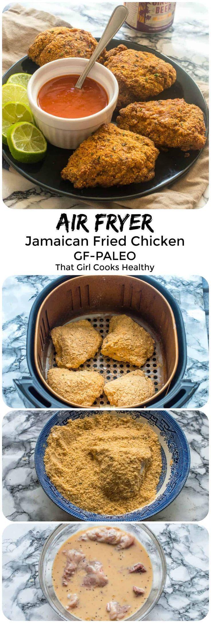 Photo of Jamaican fried chicken (air fryer, gluten free) – That Girl Cooks Healthy