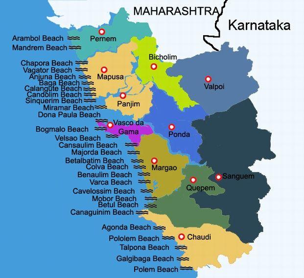 Goa map goa a tourist spot for unlimited fun pinterest goa goa map gumiabroncs Images