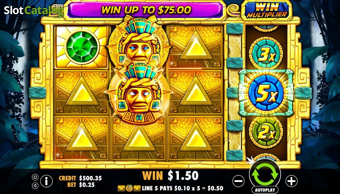 Wild Win Screen Aztec Gems Video Slot From Pragmatic Play Aztec Slot Play Slots Online