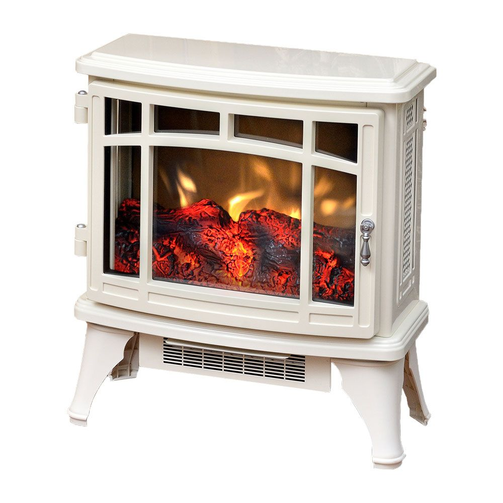 Duraflame 8511 Cream Infrared Electric Fireplace Stove with Remote Control - DFI-8511-04 $199 for bathroom