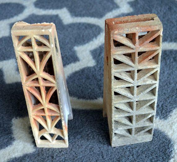 Vintage Ceramic Grate Bricks Gas Heater Radiant Brick
