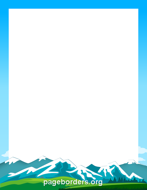 Mountain Border Clip Art Page Border And Vector Graphics Page Borders Borders For Paper Clip Art Borders