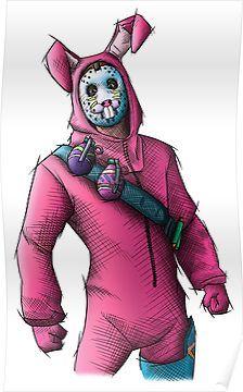 Rabbit Raider Fortnite Skin Poster Bilder Zeichnen Fortnite Bilder Zeichnen