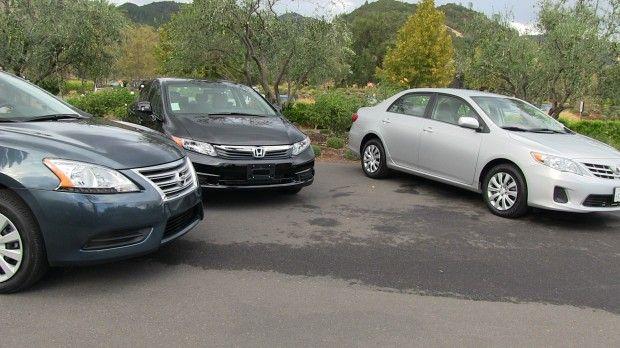 2013 Nissan Sentra Vs Honda Civic Vs Toyota Corolla 0 60 Mph