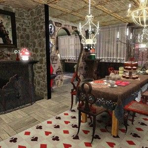 15+ Awesome Alice in Wonderland Dining Room Ideas   Alice ...