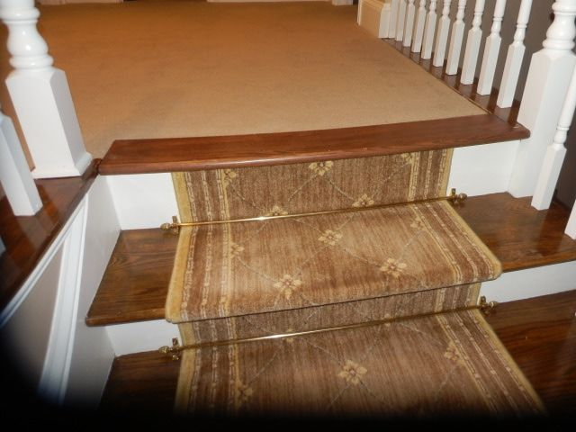 Other Stairs To Carpet Idea Wood Stairs Carpet Stairs Stair | Carpet Landing Wooden Stairs | Patterned | Builder Grade | Light Wood | Red Oak Wood | Hardwood