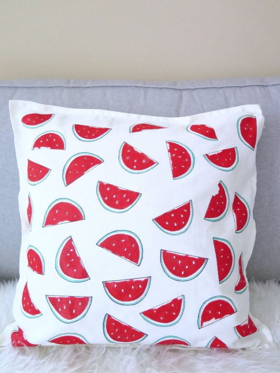 Watermelon throw pillow cover