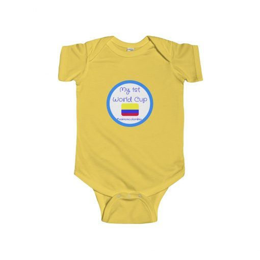 09978beb51f My first World Cup for Colombia baby fans! The perfect gift for this world  cup. Vamos Colombia. Tricolor. Los Cafeteros. Mi Seleccion. Unidos Por Un  Pais.