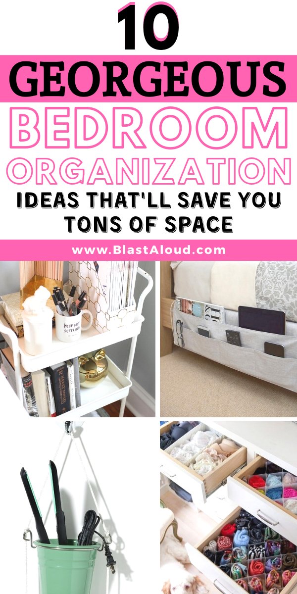 10 Bedroom Organization Ideas For Small Bedrooms That Ll Save You So Much Space Organization Bedroom Bedroom Organization Closet Work Space Organization