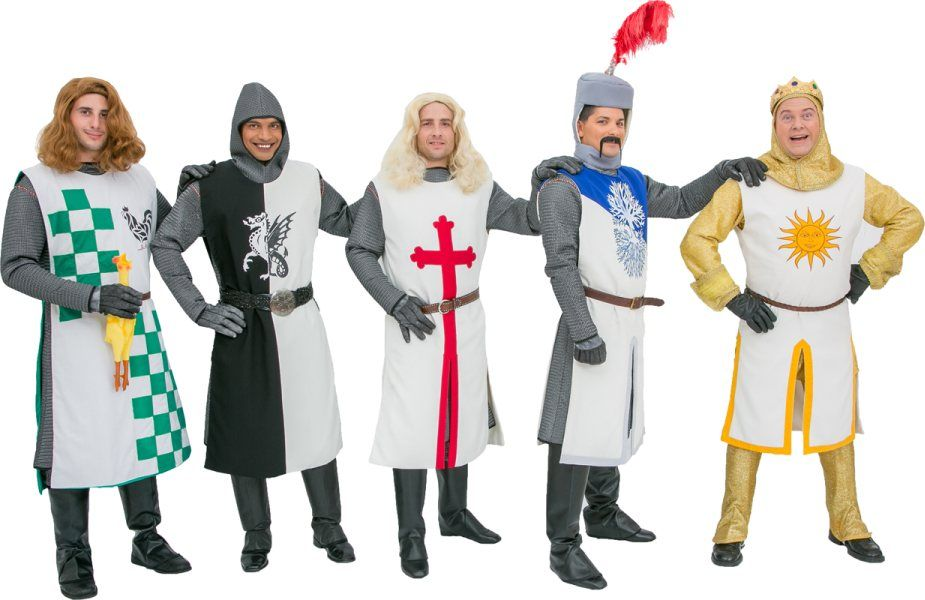 Rental Costumes For Monty Pythonu0027s Spamalot   Knights Of The Round Table