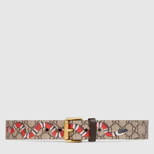 ae6b973b6 GG Supreme belt with Kingsnake print | My Style | Gg belt, Fashion ...