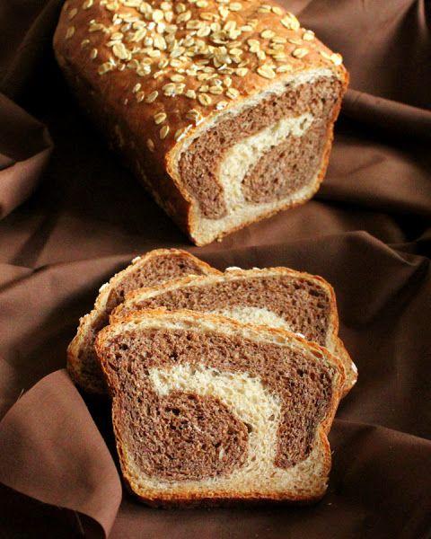 Mocha Chocolate Swirl in Vanilla Wheat Bread.