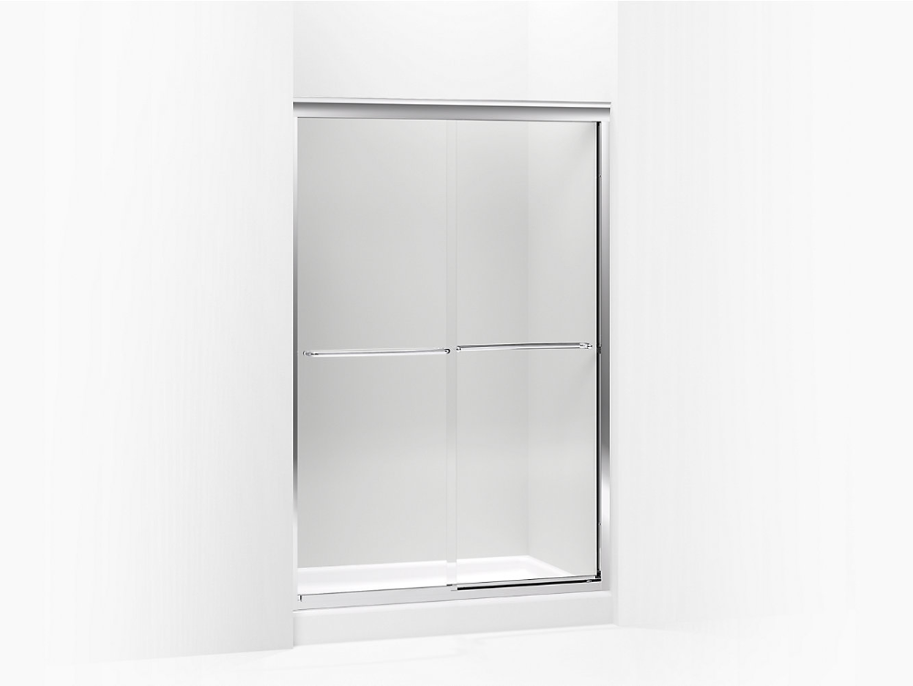 K 702221 L Fluence Frameless Sliding Shower Door With 1 4 Inch Glass Kohler In 2020 Sliding Shower Door Shower Doors Frameless Sliding Shower Doors