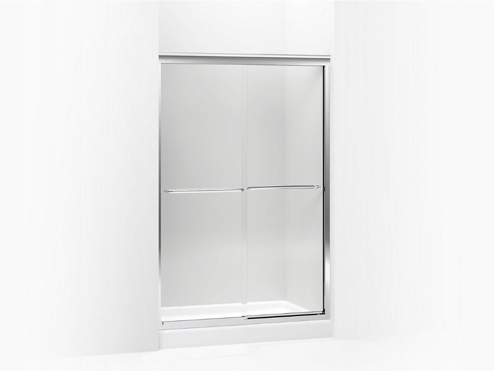 K 702221 L Fluence Frameless Sliding Shower Door With 1 4 Inch Glass Kohler In 2020 Sliding Shower Door Shower Doors Frameless Sliding Shower Doors