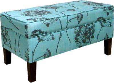 Dandy Circle Aqua Storage Bench | For the Home | Pinterest | Storage ...