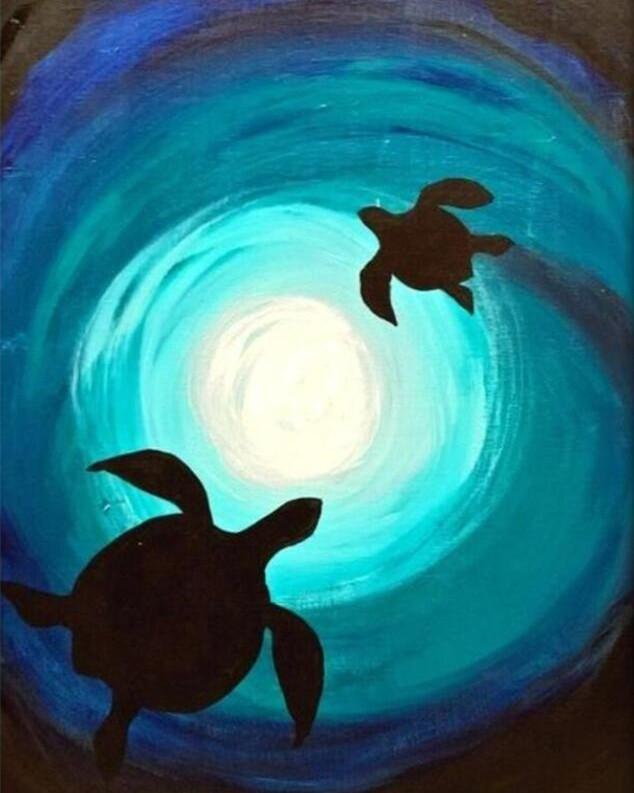 DIY Painting By Numbers -  Sea turtle (16