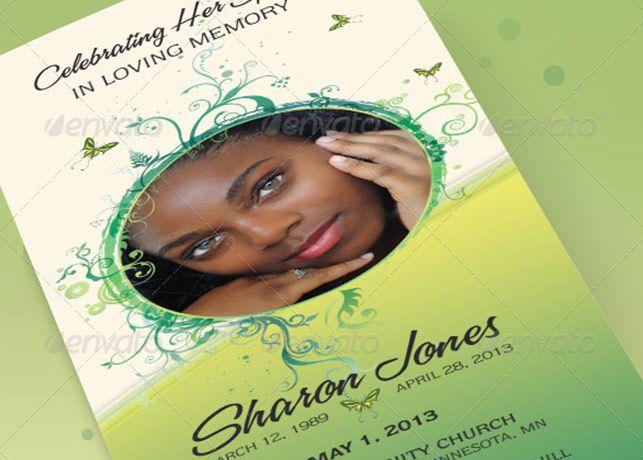 Decorative Tri Fold Funeral Program