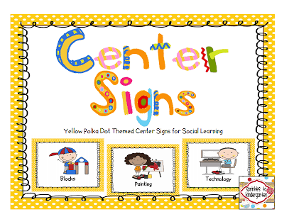 Free Printable Classroom Center Signs | Sprinkles to ...