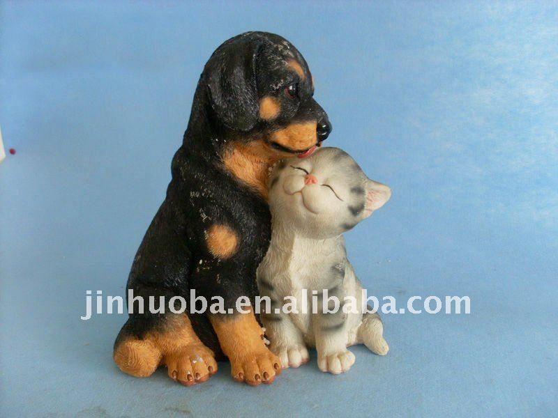 Смолаы кошка и собака фигурка украшения сада-картинка ...