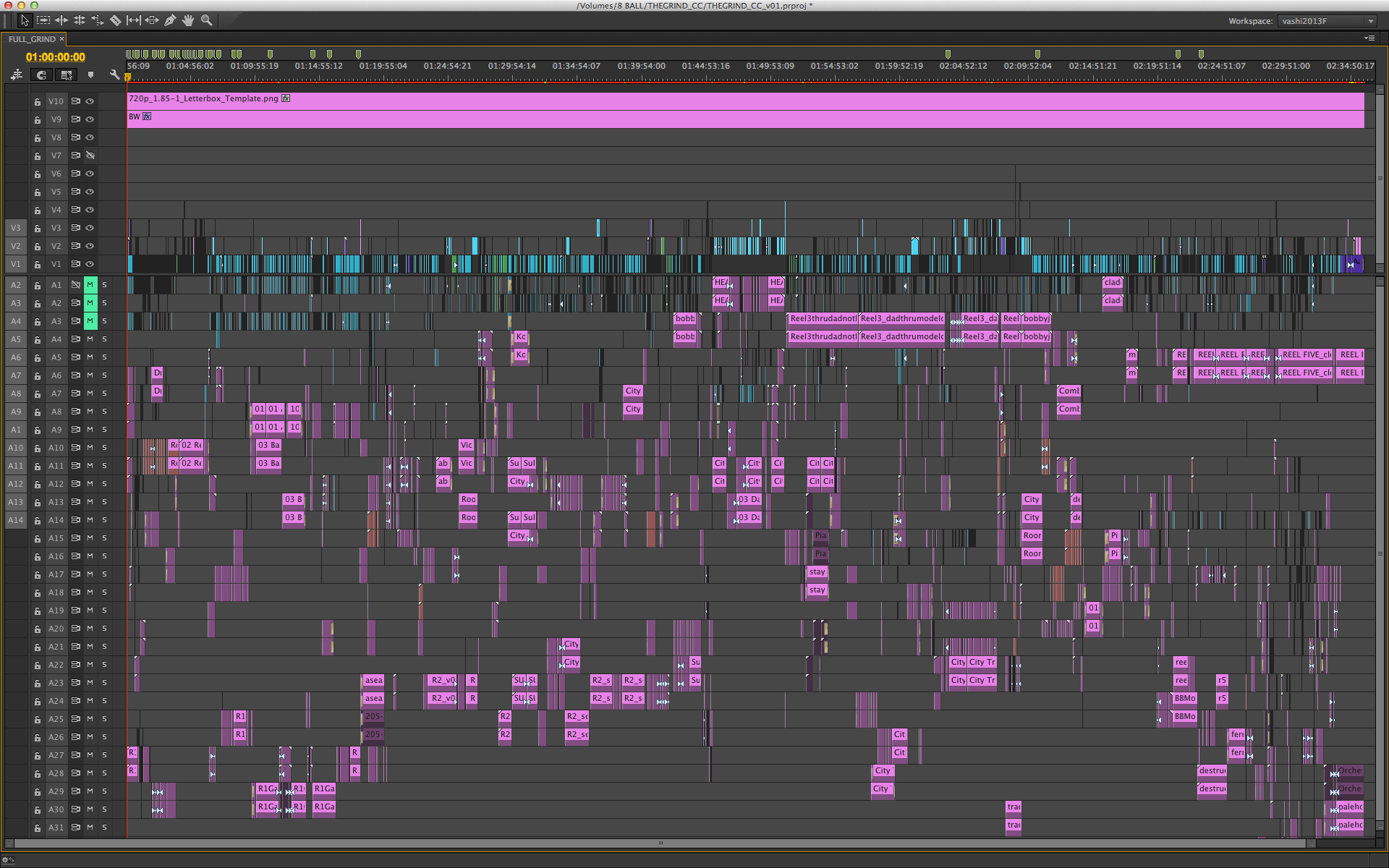 full 95 minute timeline in adobe premiere pro cc tips for