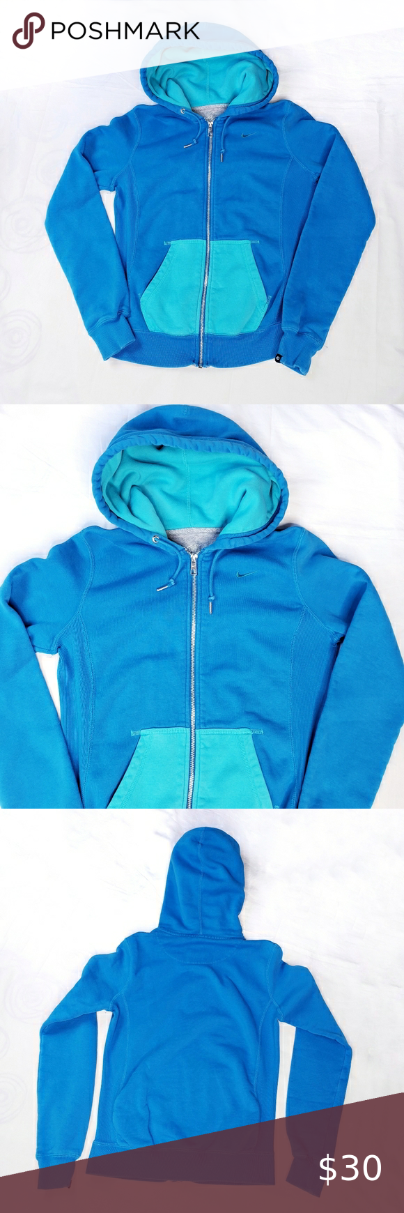 Nike Full Zip Color Block Hoodie Blue Aqua Small Nike The Athletic Dept Full Zip Up Color Block Style Hoodie Blue With Clothes Design Fashion Fashion Design [ 1740 x 580 Pixel ]