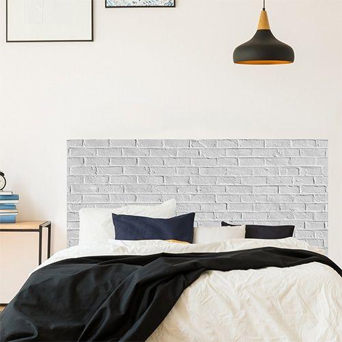 Tete De Lit Briques Blanches Mur De Briques En Trompe L Oeil Briques Blanchies Effet Indus Deco I Tete De Lit Tete De Lit Industrielle Decoration Maison