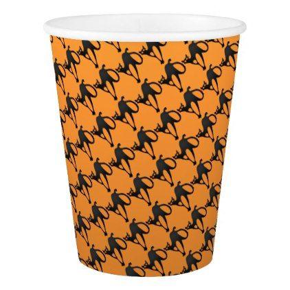 Happy Halloween Black Cat Paper Cup - diy cyo customize create your - halloween decorations black cat