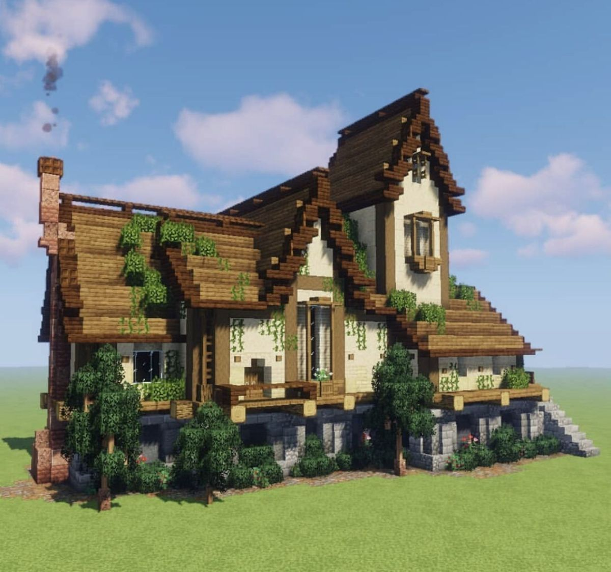 Rustic house #minecraft  Minecraft architecture, Minecraft