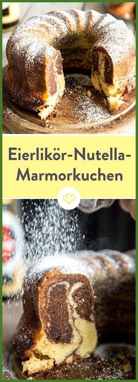 Marmorkuchen mit Eierlikör und Nutella #Eierlikör #Fitness food abendessen #Fitness food vegetarian...